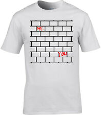 Pink Floyd Inspired Mens T-Shirt Gilmour Rogers The Wall Lyric Another Brick