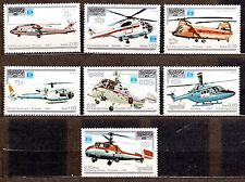 CAMBODIA 1987 SC# 812-819 MNH - HELICOPTERS, AVIATION