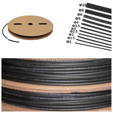 """Black 100 FT. 1/8"""" 3mm Polyolefin 2:1 Heat Shrink Tubing Cable Wrap Wire Tube"""