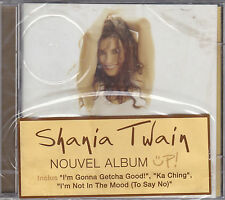 2 CD PICTURE 38T SHANIA TWAIN UP DE 2002 INCLUS POSTER NEUF SCELLE FRENCH STICK