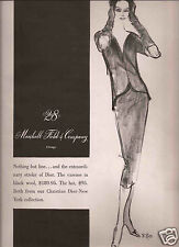 50's Marshall Field & Co. Fashion Ad  1957