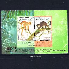 1996 - Australia Cuscus Cuscuses Joint Issue Indonesia '96 overprint mini-sheet