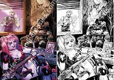 HARLEY QUINN (DC Rebirth) #1 Tyler Kirkham- Variant Exclusive SET OF 2 Color/B&W