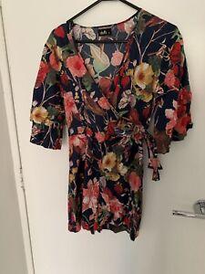 Dotti Floral Print Short Playsuit Size 10