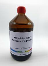 1000 ml Kolloidales Silber 50 ppm, Silberwasser, frisch hergestellt, mit Datum