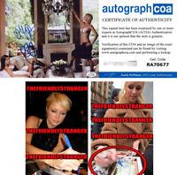 PARIS HILTON & NICKY HILTON signed Autographed 8X10 PHOTO - EXACT PROOF ACOA COA