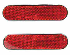 NEW BICYCLE REFLECTOR SET - RED - STICK-ON SELF-ADHESIVE - BIKE CYCLE PAIR