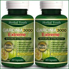 2 BOTTLES ◆ 120 GARCINIA CAMBOGIA Capsules 3000mg Daily UK CHEAPEST Diet Pills