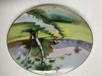 """Ucagco China Hand Painted 8"""" Decorative Plate Made in Japan"""