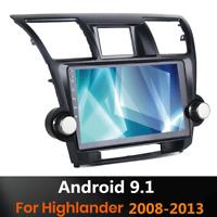 "10.1"" Android 9.1 Quad Core GPS Radio Head Unit Wifi 2+32GB For Highlander 08-13"