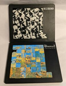 ESCHER'S Birds & VAN GOGH'S Langlois Bridge @ Arles Sliding Tile Puzzles Germany