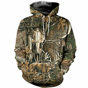 Deer Hunting Camo Hoodie 3D All Over Print For Men & Women Adult Funny Colorful