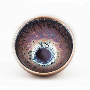Jianzhan 224 Chinese Tea Bowl TENMOKU-CHAWAN of Porcelain w/beautiful Glaze