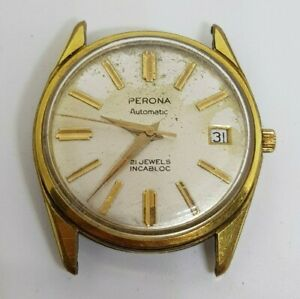Vintage Men's PERONA Automatic Swiss Made Watch ETA 2452 (working)