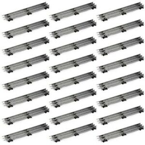 Lot 24 Straight Track 10 INCH Sections Tubular O-Gauge for MTH Lionel NEW