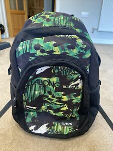 Black And Green Billabong Back Pack