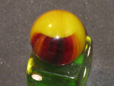 HTF in Red Glass Helmet Vintage Glass Marble Marbles