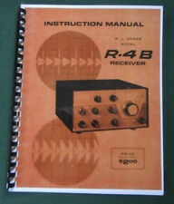 """Drake R-4B Instruction manual: 11"""" x 17"""" Foldout Schematic & Protective Covers!"""