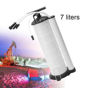 Manual 7 Liter Oil Fluid Changer Vacuum Extractor Pump Transfer Tank Remover