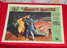 original THE MONOLITH MONSTERS lobby card Grant Williams Lola Albright