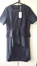 BNWT COS blue asymmetric cotton dress, Size: EU 42 / UK 16, RRP: £79