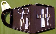 Handy 4pc Nail Care Set Black Handbag Style Case +Bonus+