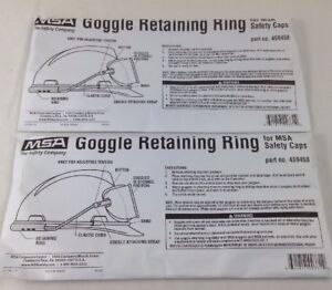 QTY 2 MSA GOGGLE RETAINING RING FOR MSA SAFETY CAPS 459458 FREE SHIPPING