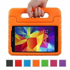 "Kids Safe Carry Heavy Duty Shockproof Rubber Case Cover Stand for Samsung Tablet Galaxy Tab 4 10.1 Inch T530 10.1"" Device Orange"