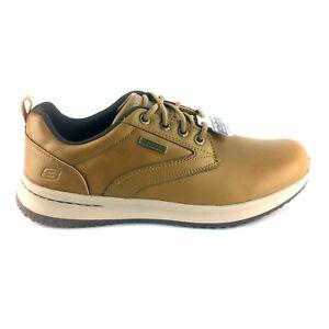 65693/TAN Skechers, Men's Delson Antigo Oxfords Antigo Sneaker
