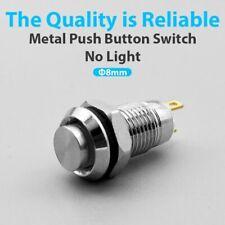 Metal Push Button Switch 2 Pins Self Locking Latching Self Reset Momentary 8mm