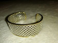Genuine Ti Sento Sterling Silver Cubic Zirconia Bangle Gold plated
