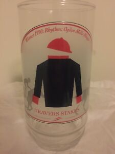 "1951-1990 Saratoga Travers Stakes Race Winner ""Rhythm"" Glass"