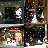 Christmas Snowman Removable Vinyl Window Wall Stickers Decal Store Home Decor AU