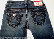 EUC - AS NEW - RRP $169 - Girls Stunning True Religion 'JULIE GIANT BIG T' Jeans