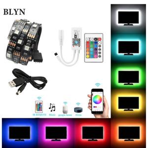 LED TV Back Lighting Strip RGB + Remote Control Alexa Google Home 1m 2m 5m UK