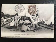 1905 BRITISH SIKH SOLDIERS IN CHINA TIENTSIN DRAGON STAMP POSTCARD