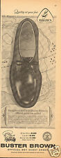1961 Buster Brown Official Boy Scout Shoes Oxford BSA LARGE Print Ad