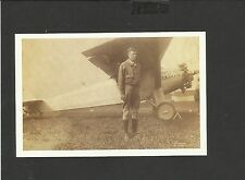 Nostalgia Postcard Pilot Charles Lindburgh  beside-Spirit of St. Louis 1927