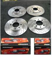 PEUGEOT 206 GTI HDI  DRILLED GROOVED BRAKE DISC MINTEX PADS