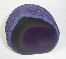 Purple Agate cut base Crystal Geode 360g