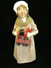 Byers Choice Caroler Williamsburg Colonial Shopper Girl with Toy Horse 2003 NEW