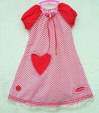 Herz rot weiß Prinzessin  Mädchenkleid NEU Häkelblume  Baumwollspitze Gr.  128