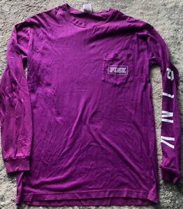 Victoria's Secret PINK T-Shirt Long Sleeve Purple Sz Small NWOT!!