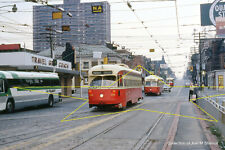 TTC Car 4456 on Roncesvalles C.H. Toronto Canada Augus Original Kodachrome Slide