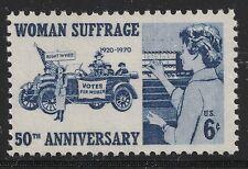US Scott #1406, Single 1970 Woman Suffrage 6c FVF MNH