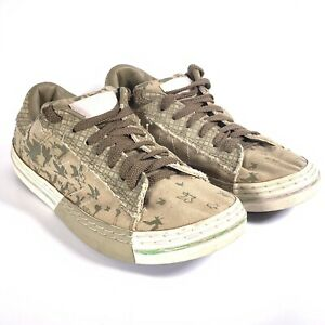Converse All Star Low Olive Pink Birds Size UK 7 EUR Skate Shoes Trainer Padded