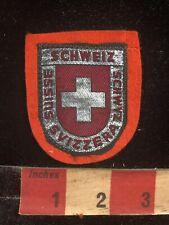 Woven On Felt Switzerland (Schweiz Schwyz Svizzera Suisse) Patch -Languages S88R