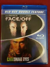 Snake Eyes / Face Off Bluray Double Feature Cage, Travolta No scratches