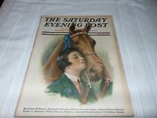 Blue Ribbon Winner Saturday Evening Post Cover March 19 1927  William Haskell