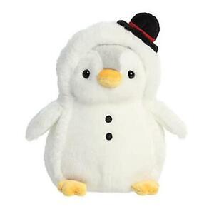 AURORA PomPom Penguin Christmas Snowman 7In Soft Toy